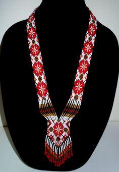 Handmade Beaded Necklace Gerdan by Rotenbush on Etsy
