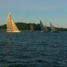 Sailboats on White Bear Lake, Minnesota, USA White Bear Lake, Sailboats, Where The Heart Is, Minnesota, Places Ive Been, Past, Sailing, Travel, Sailing Yachts