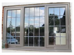 traditional oak window with mocha coloured aluminium exterior, the ultimate window Mocha Color, Aluminium Windows, Windows And Doors, House Ideas, Exterior, Traditional, Architecture, Arquitetura, Outdoors