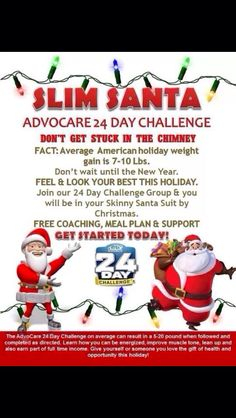 Want to give the gift of health this year? This is a great challenge and gift! Let me help you get started! AdvoCare 24 day challenge. https://www.advocare.com/150838529