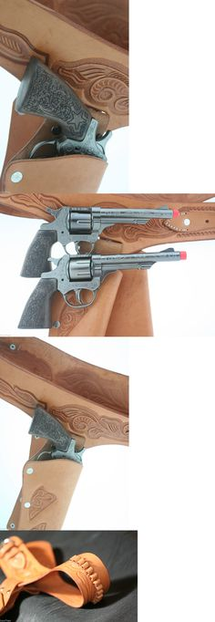 Diecast 152939: Double Leather Holster With 2 Metal Guns Cap Tan Brand New Holiday 8 Shot 70006 -> BUY IT NOW ONLY: $78.96 on eBay!