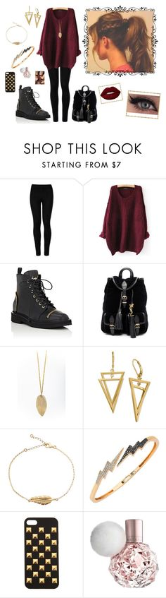 """""""Nr. 61"""" by deromymaus ❤ liked on Polyvore featuring Wolford, Giuseppe Zanotti, Yves Saint Laurent, Bee Goddess, Hot Topic and Lime Crime"""