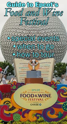 Complete overview of Epcot's Food and Wine Festival in 2016 Disney World Florida, Disney World Parks, Disney World Planning, Walt Disney World Vacations, Disney Travel, Disney World Tips And Tricks, Disney Tips, Disney Food, Disney 2017