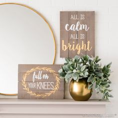 Give your Christmas decor a modern update with lovely wooden signs that match your everyday decor!