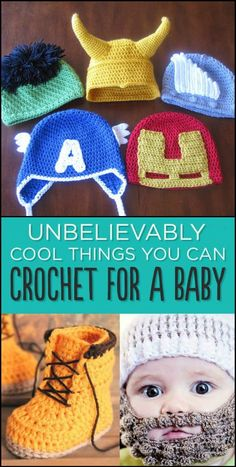 Baby Knitting Patterns Mermaid 29 Unbelievably Cool Things You Can Crochet For A Baby Baby Knitting Patterns, Baby Patterns, Crochet Baby Hats Free Pattern, Vintage Crochet Patterns, Crotchet Patterns, Crochet Gratis, Free Crochet, Knit Crochet, Crochet Boots