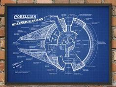 The Ultimate Blueprint Styled Star Wars Poster Set