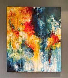 Introspection - 120 x 100 cm, peinture acrylique sur toile // alexiaorbandexivry@gmail.com Colorful Paintings, Oeuvre D'art, Gmail, Drawings, Artwork, Artist, Paintings, Water Colors, Acrylic Paintings