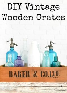 Love vintage crates but hate the price tag? Then this upcycling idea with old drawers from Habitat ReStore is DEFINITELY for you! You can create your own rustic wooden crates for just a few dollars. PERFECT as DIY farmhouse decor! #vintagecrates #rusticdecor #farmhousedecor #DIYfarmhousedecor #antiquecrates #sodacrates #vintagedecor #farmhousecrates #stenciled #farmhouse Vintage Decor, Rustic Decor, Farmhouse Decor, Farmhouse Style, Vintage Wooden Crates, Wood Crates, Old Drawers, Wooden Drawers, Habitat Restore