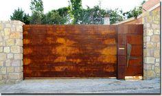 reja hierro oxidado moderna - Buscar con Google