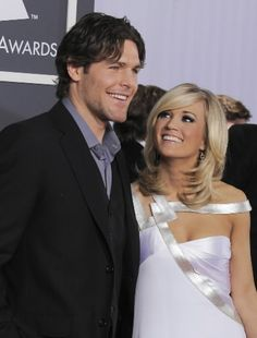 Mr. and Mrs. Mike Fisher...aw, you can tell that she just adores him!