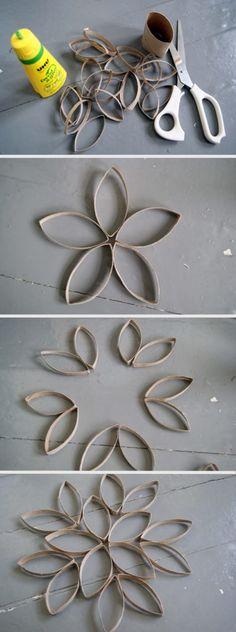 Décoration en rouleaux de papier de toilette – Maude Design