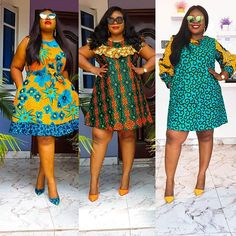"""Hello Ladies, 2020 Ankara Styles For Ladies for any special events are carefully Ankara Chic that will make you our """"Divas"""" look F. Short African Dresses, Short Summer Dresses, Girls Formal Dresses, Latest African Fashion Dresses, African Print Dresses, African Print Fashion, Ankara Short Gown Styles, Lace Dress Styles, Traditional African Clothing"""