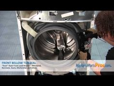 ▶ Duet Washer Front Bellow Tub Seal (part #8181850) - How To Replace  ***** Also, how to take the top off!