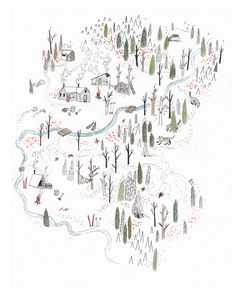 Maps (ongoing): the backside of Red Mountain Resort, Rossland, BC, 2011 by Sarah Burwash