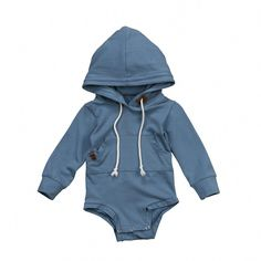 af5ef7dc7f2d Blue Hooded Jumpsuit - The Trendy Toddlers  babyboyoutfits