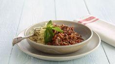 Spaghetti Bolognese - opskrift på spaghetti med kødsovs