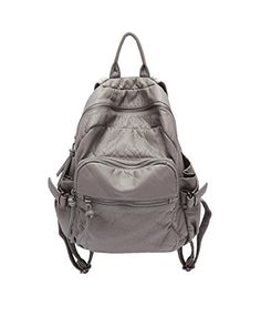 Topsung 2015 Leather Women Backpack Retro Gray >>> This is an Amazon Affiliate link. Read more reviews of the product by visiting the link on the image.
