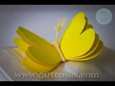 Cómo hacer Guirnalda de Mariposas de Papel. Con imprimible - YouTube