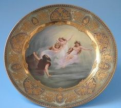 Royal Vienna HP Allegorical Porcelain Plate