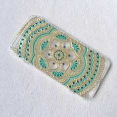 Items similar to iPhone 8 plus Case clear Hand Painted iPhone 6 Case Samsung Galaxy Case LG Note 5 Sony Xperia Case Art Henna Mandala mehndi Hand Drawn on Etsy Henna Phone Case, Bling Phone Cases, Art Phone Cases, Diy Phone Case, Iphone 7 Plus Cases, Samsung Cases, Iphone 6, Samsung Galaxy, Galaxy S7