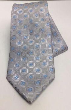 b96f03070b6b Men's Tie & Hanky Set Silver & Powder Blue St Patrick Microfiber # StPatrick