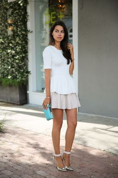 Peplum and skirt