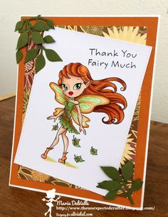 Alicia Bel, Maria del Valle, The unexpected crafter, copic, card, fairy, autumn