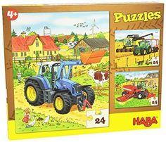 HABA-300444-tracteur-jou et-Puzzle-jeu-robuste-nouveau