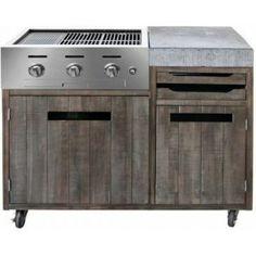 Ik vond dit op Beslist.nl: Buitenkeuken BBQ unit vintage look. Afmeting: 120x60x90cm. Prijs per set. (per pak)