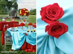 red blue and yellow wedding - Google Search