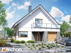 Projekt domu Dom pod hikorą 3 - ARCHON+ Architectural House Plans, Dream House Plans, Large Homes, Home Fashion, How To Plan, Mansions, House Styles, Outdoor Decor, Design