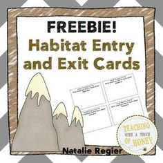 FREEBIE! Use these habitat entry/exit cards to gather knowledge about student learning!   This freebie contains seven options to use at the beginning of your unit to get your students thinking about an upcoming habitats unit.