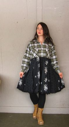 Romantic Lagenlook Tunic dress upcycled by lillienoradrygoods
