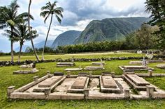 Resting in paradise in Kalaupapa National Historic Park on Molokai Hawaii
