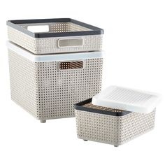 "Elfa Drawer separation: DKW SAAN storage basket: Large Banded Woven Bin but I need  CLEAR  10-1/4"" x 14-1/2"" x 6-1/4"" h  10062478"