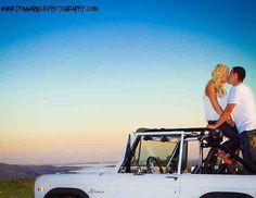 Jeep engagement photo