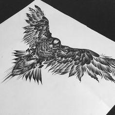 Эскиз на заказ #тату #татуэскиз #рисую #эскиз #скетч #птица #орел #сердце #графика #иллюстрация #чернуха #арт #орел #drawing #tattoo #sketch #tattoosketch #drawingtattoo #bird #blackbird #tattooart #illustration #graphics #heart #eagle #blackart #blackwork