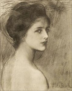 "Թեոդոր Աքսենտովիչ (Teodor Axentowicz), ""Portrait of a Young Woman"".  Soooooo beautiful."