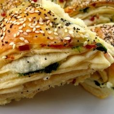 Spinach and Feta Cheese Pastry... a variation of the Turkish Borek