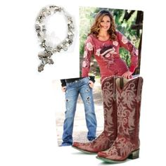 Pin It to Win It!  Red Hot Cowgirl, created by cowgirltuffcompany on Polyvore