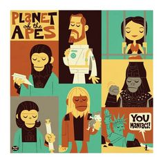 Planet of the Apes by Dave Perillo... I have this framed & hanging in my house