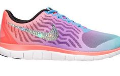 Cheap Feet Running Shoes Shoes Swarovski Crystal Nike Free 4.0 V5 Bling  Womens Running Shoes Hot 7f0ee25050f1