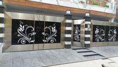 Modern Steel Gate Design, Modern Main Gate Designs, Iron Main Gate Design, Home Gate Design, Gate Wall Design, Grill Gate Design, House Main Gates Design, Main Entrance Door Design, Front Door Design Wood