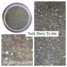 Talk Dirty To Me Glitter Pigment from Orglamix. Saved to Random Shop more products from Orglamix on Wanelo. Glitter Lipstick, Glitter Pigment, Body Glitter, Glitter Makeup, Sephora Makeup, Mua Makeup, Makeup Cosmetics, Beauty Makeup, Cosmetic Grade Glitter