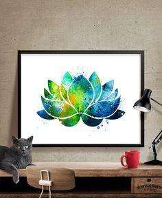 Inademen Exhale Art Print, Inhale, Exhale citaat, Yoga muur wordt ...