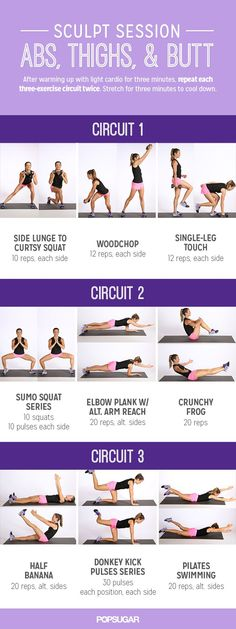 Printable Workout: Sculpt Session For Abs and Glutes #workout #fitness #abs #thighs