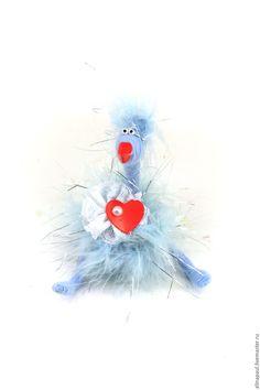 Купить игрушка Курочка голубая (пасха, сердце,цыпленок,год петуха) - голубой, курица, курочка, год петуха