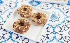 Epicure's Chocolate Dukkah Doughnuts Mini Doughnuts, Baked Donuts, Desserts Menu, Dessert Recipes, Chocolate Cream Cheese Icing, Epicure Recipes, Popcorn Seasoning, How To Make Icing, Allergy Free Recipes
