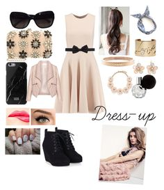 """""""Dress-up day"""" by xcalumscurlylocksx ❤ liked on Polyvore featuring Michael Kors, Miss Selfridge, Chanel, J.Crew, Mixit, Lanvin, NYX, Zizzi, women's clothing and women"""