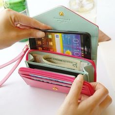 Iphone Wallet Case, Iphone 4s, Purse Wallet, Apple Iphone, Coin Purse, Clutch Bag, Red Clutch, Pink Iphone, Iphone Cases